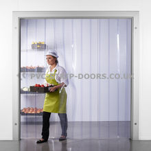 200x2mm Clear Perforated PVC Curtains