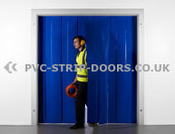 200x2mm Opaque Blue Plastic Door Strips