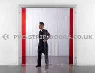 200x2mm Ribbed PVC Strip Curtain