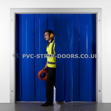 300x3mm Opaque Blue PVC Strip Curtain