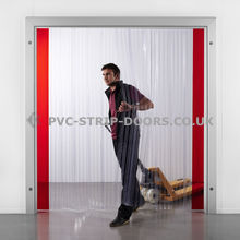 300x3mm Ribbed Plastic Curtains