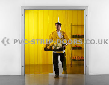 300x3mm Transparent Yellow PVC Strip Curtain