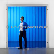 Blue PVC Strip Curtains