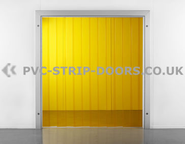 200x2mm Transparent Yellow PVC Strip Curtain