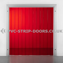 300x3mm Transparent Red PVC Strip Curtain
