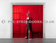 200x2mm Transparent Red PVC Strip Curtain