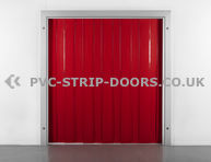300x3mm Opaque Red PVC Strip Curtain