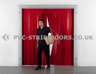 400x4mm Opaque Red PVC Strip Curtain