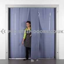 300x3mm Opaque Grey PVC Strip Curtain