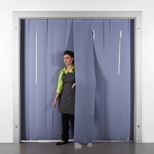 Grey PVC Strip Curtains