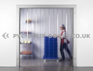 200x2mm Clear Frosted PVC Curtains