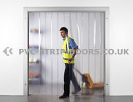 Medium Duty Ready Made PVC Strip Curtains Suitable for pedestrian, warehouse traffic, forklift truck & motorised vehicles