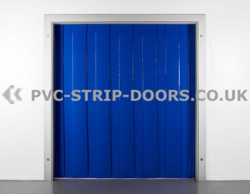 200x2mm Opaque Blue PVC Strip Curtain