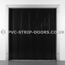 400x4mm Black PVC Strip Curtain
