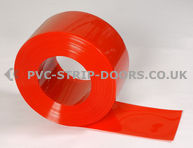 200x2mm Opaque Red Bulk PVC 50m Roll