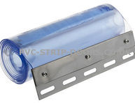 300x3mm clear pvc 2.00 metres long with stainless steel plates