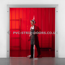 Red PVC Strip Curtains