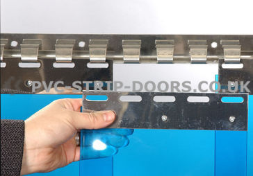 200x2mm Transparent Blue Replacement PVC Strip