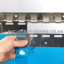 300x3mm Transparent Blue Replacement PVC Strip