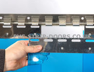 300x3mm Transparent Blue PVC Replacement Strip