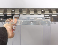 Clear PVC Strip Replacement – 300x2mm