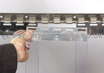 400x3mm Clear Replacement PVC Strip