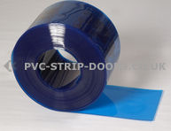 200x2mm Transparent Blue Bulk PVC 50m Roll