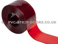200x2mm Transparent Red Bulk PVC 50m Roll
