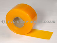 200x2mm Yellow Bulk PVC 50m Roll